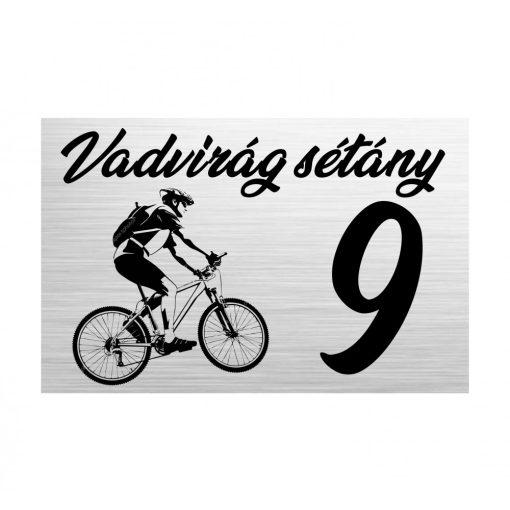 Gravírozott házszámtábla - Kerékpáros