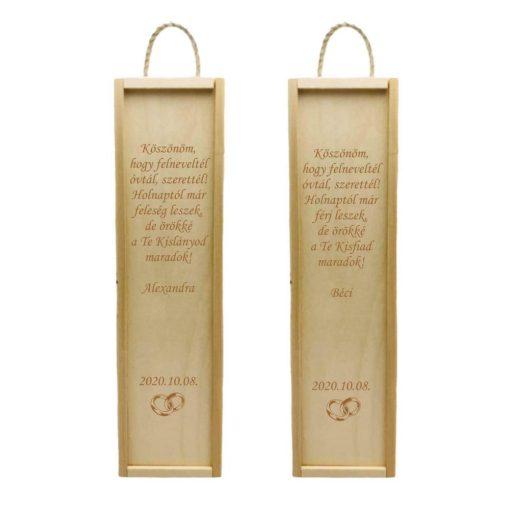 Italos doboz - Esküvői köszönő ajándék - Köszönöm, hogy felneveltél...