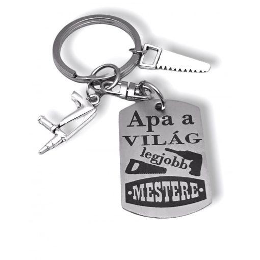 Kulcstartó - Apa a világ legjobb mestere