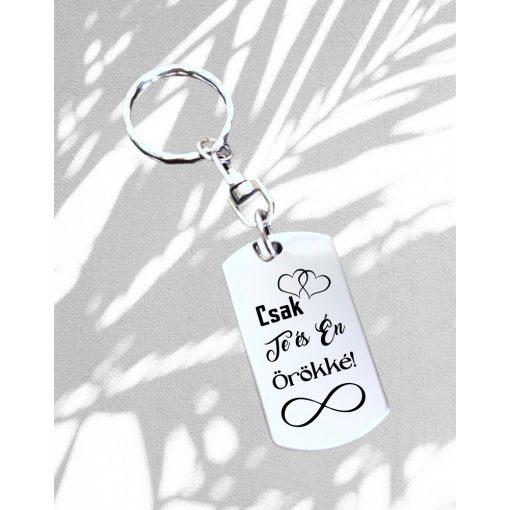 Kulcstartó - Csak Te és Én Örökké!