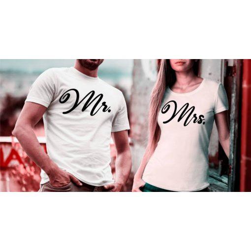 Páros póló - Mr. - Mrs. - Klasszik