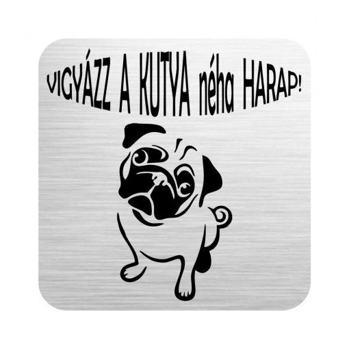 Gravírozott tábla - Vigyázz a kutya néha harap!